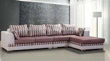 2015 new design PU leather and Fabric combination Sofa,left Chaise Lounge sofa