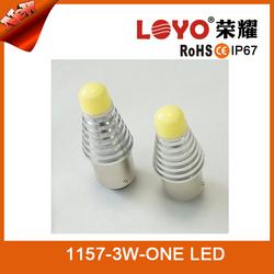 2015 new model High brightness 1157 3W one white light LED new led light