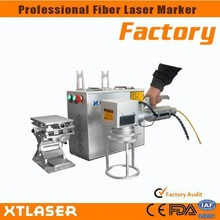 2014 New laser marking machine /portable mini fiber laser marking machine with rotary for rings