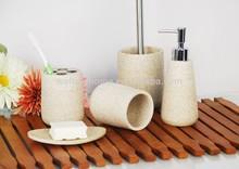 Polyresin Bathroom Accessories set/artificial stone Bathroom Accessories/bath set