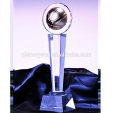 wholesale new design metal crystal basketball trophy