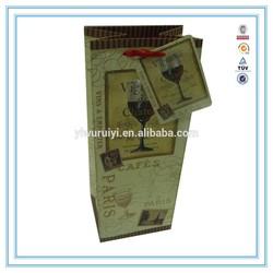 2015 Hot High Quantity paper wine bag & wine paper bag