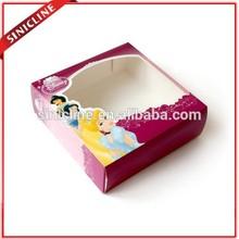 Sinicline custom made cartoon pattern paper donut packaging box for kids