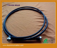 """3000mm 1-2"""" Superflexible Jumper Cable with DIN male to DIN male right angle connector on both ends"""