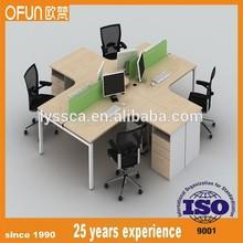 modern cheap MFC desk office L shape desk