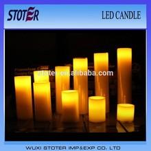 luminara LED paraffin wax Candle lights, flashing led candle with battery