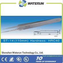 ST series high precision stainless steel tweezers/straight tweezers/curved tweezers