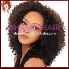 Qingdao New Design Silk Top Natural Looking Virgin Mongolian Hair Kinky Curl Lace Wig