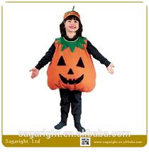 Linda de la fiesta de Halloween traje de la calabaza