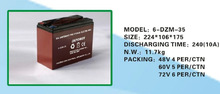 6-DZM-35eletric dry leoch battery for motocycle