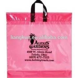 Plastic Loop Handle Bag / Plastic Shopping Bag factory / soft loop handle plastic bag