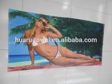 hot sale sex girl microfiber towel beach