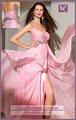 stupefacente ael019 elegante fidanzata chiffon davanti a fessurain chiffon di perline abito da sera lungo