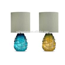Hotel Decorative LED Desk Lamp Artistic Handmade Murano Glass Table Lamp Flower Vase