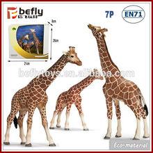 Kids model set wild animal plastic giraffe toy