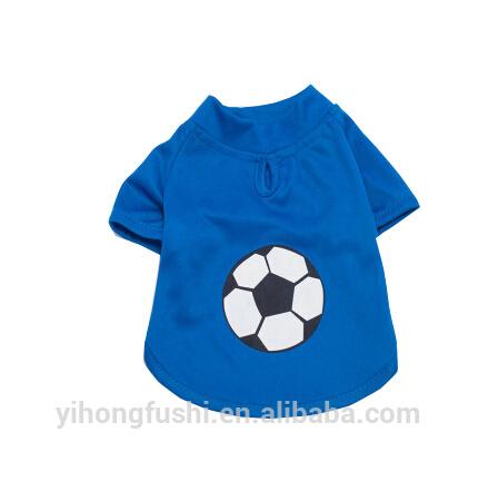 Il modello di calcio vestiti del cane per l'estate 3 colori