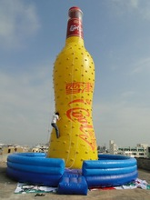 QH-CW-21-Hot sale Funny inflatable rock climbing wall