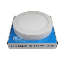 6W/12W/18W/24W round surface led panel light with CE&HoRs