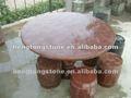 Pedra mármore mesa redonda com cadeiras ao ar livre para jardim&