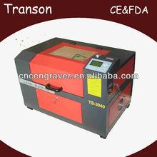 Transon Brand CO2 mini laser carving machine TS3040