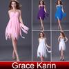 Chiffon Cocktail Dress Grace Karin One Shoulder Cocktail Dresses 2014 CL3185
