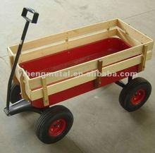 Wooden kids wagon baby carriage cart / bollerwagen TC4201
