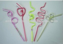 Animal wheat for hot selling or party decoration hard plastic drinking straw