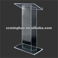 acrylic podium lectern / clear acrylic church podium / perspex school lecturen