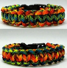 August,2012 New type hand make cobra bracelet , 550 paracord bracelet for camping, hiking, or as gift, promotional item
