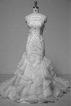G5057B 2012 Autumn Collection Gorgeous Organza Mermaid Wedding Dresses