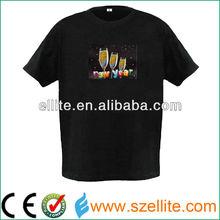 2013 company brand promotion logo custom el t-shirt