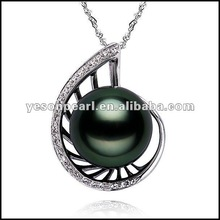 10-11mm black pearl or charming pendent new style in 2012