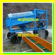 Alluvial sand gold trommel screen machine