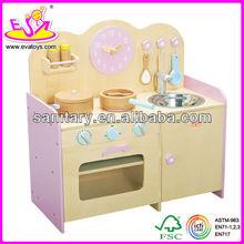 2015 de madera nueva batería de cocina de juguete, los niños populares utensilios de cocina de juguete, caliente la venta de madera de juguete w10c009 batería de cocina