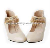 2012 hot sales ladys high heel handmade beads chains ornament