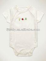 Short Sleeve Unisex Organic Baby Romper Blank or Image