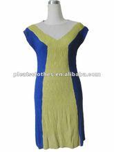 Alibaba UAE Made In China Wholesale Multi-Color Cap Sleeve Deep V-neck Elegant Lady Brazil Pleats Maxi Dress