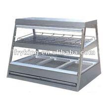 2 Tier Curved Glass Display Food Warmer / Temp Control