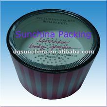 Round shape design paper empty loose powder case VS brand