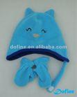 winter fleece hat glove for child in animal design