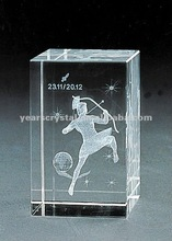 pure crystal cube laser man for birthday gift engraved (R-0111)