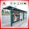 De metal parada de autobús refugio con publicidad caja de luz/refugios al aire libre