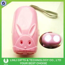 Plastic pink rabbit manually generator torchlight