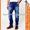 Kaliteli süper kumaş şık şalvar heteroseksüel erkek kot pantolon( hym1516)