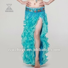 Qiancai Wuchieal belly dancewear belly dance clothing, stage performance wears pleated belly dance skirts (QC2005)