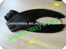no synthetic 100% human hair light yaki Brazilian virgin hair hair weave in stock