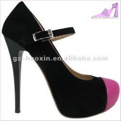 fashion(029-A466-9730) ankle strap platform high heel shoes