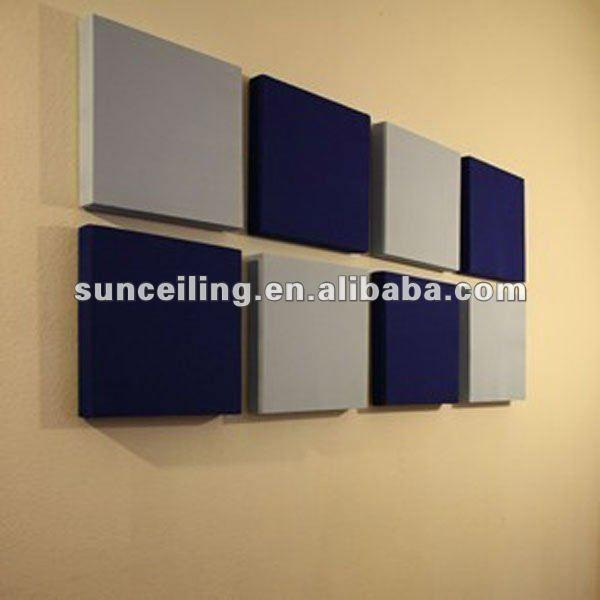 Fiberglass decorativa ac stico pain is de parede para - Insonorizar estudio ...