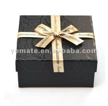 2012 black new design wholesale gift boxes with silk ribbon, gift boxes for sale suppliers