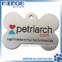 bone shape high quality etched aluminum pet tag / dog tag press